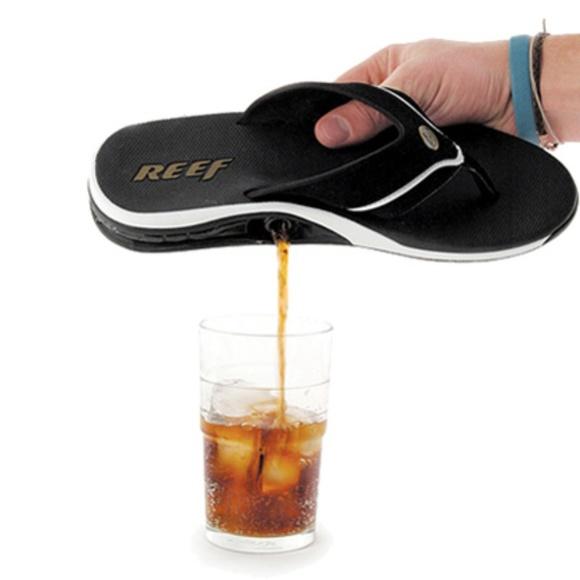 4fec2f6540736 Reef shoes dram sandals with builtin flasks poshmark jpg 580x580 Reef flask